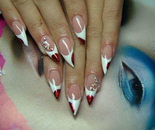 Дизайн ногтей фото на острые ногти