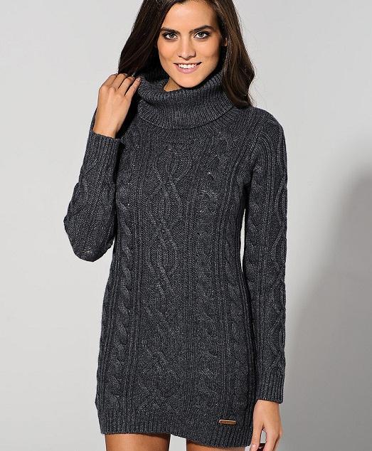 Icybam Вязание зимние платья и туники