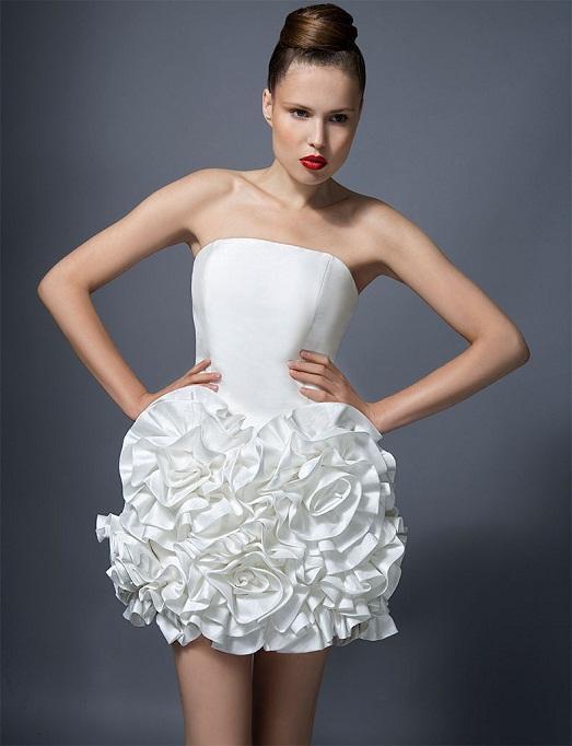 короткое вечернее платье с пышной юбкой - mimege.ru
