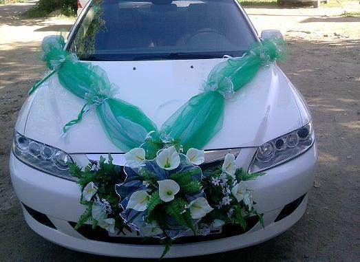 Сделать украшение на машину свадебную своими руками